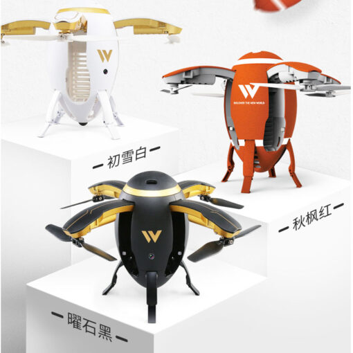 RC Quadcopter Selfie Drone WIFI FPV Foldable Fly Egg Drone W5 2 4GHz 0 3MP Camera 3
