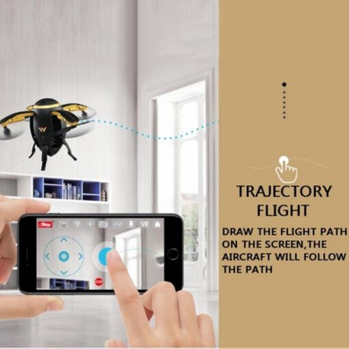 RC Quadcopter Selfie Drone WIFI FPV Foldable Fly Egg Drone W5 2 4GHz 0 3MP Camera 4