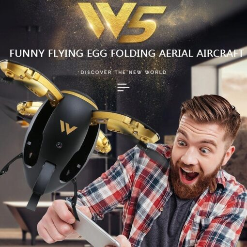 RC Quadcopter Selfie Drone WIFI FPV Foldable Fly Egg Drone W5 2 4GHz 0 3MP Camera 5