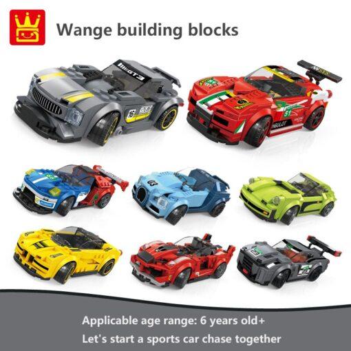 Racing Blocks Series Small Racing Car Super Racing Car Building Blocks Bricks Kids Toys Educational Toys 1