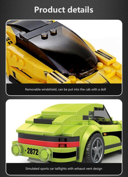 Racing Blocks Series Small Racing Car Super Racing Car Building Blocks Bricks Kids Toys Educational Toys 3