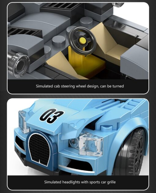Racing Blocks Series Small Racing Car Super Racing Car Building Blocks Bricks Kids Toys Educational Toys 4