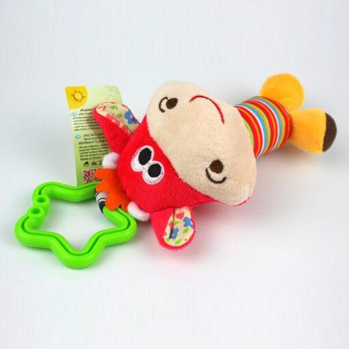 Rattle Kids Soft Stuffed Animals Plush Toys Baby Adorable 10CM Plush Stuffed Plush Doll Wrist Rattles 3