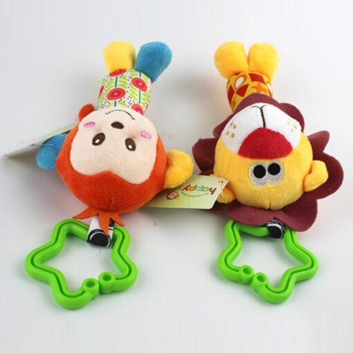 Rattle Kids Soft Stuffed Animals Plush Toys Baby Adorable 10CM Plush Stuffed Plush Doll Wrist Rattles 4