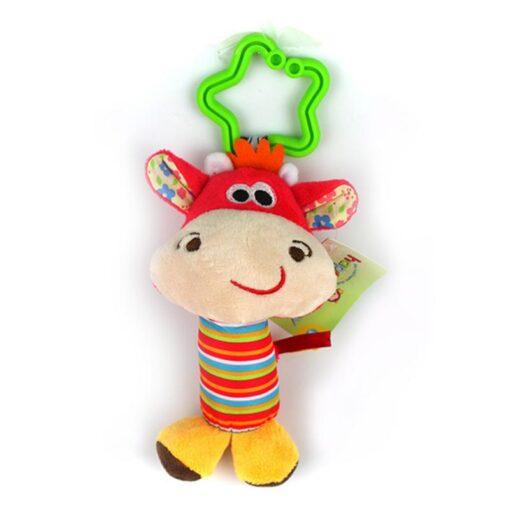 Rattle Kids Soft Stuffed Animals Plush Toys Baby Adorable 10CM Plush Stuffed Plush Doll Wrist Rattles 5