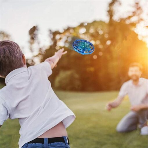 Rc Quadcopter Flying Helicopter Magic Hand UFO Ball Aircraft Sensing Mini Induction Drone Kids Electric Electronic 1