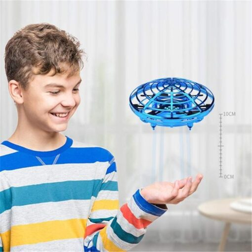 Rc Quadcopter Flying Helicopter Magic Hand UFO Ball Aircraft Sensing Mini Induction Drone Kids Electric Electronic