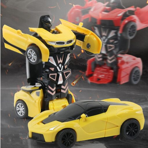 Rc Transformer 2 in 1 RC Car Robot Toy Anime Action Figure Toys Interactive toys Collision 1