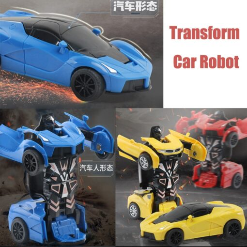 Rc Transformer 2 in 1 RC Car Robot Toy Anime Action Figure Toys Interactive toys Collision 2