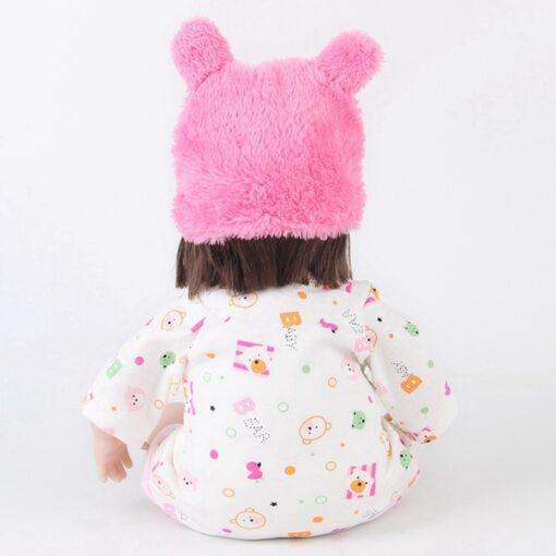 Reborn Baby Doll 42CM Baby Reborn Dolls Toys For Girls Accompany Doll Lifelike Toddler Blue Eyes 1