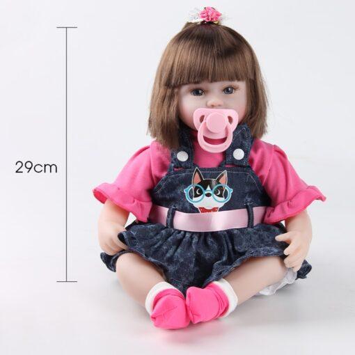 Reborn Baby Doll 42CM Baby Reborn Dolls Toys For Girls Accompany Doll Lifelike Toddler Blue Eyes 3