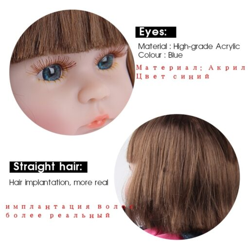 Reborn Baby Doll 42CM Baby Reborn Dolls Toys For Girls Accompany Doll Lifelike Toddler Blue Eyes 5