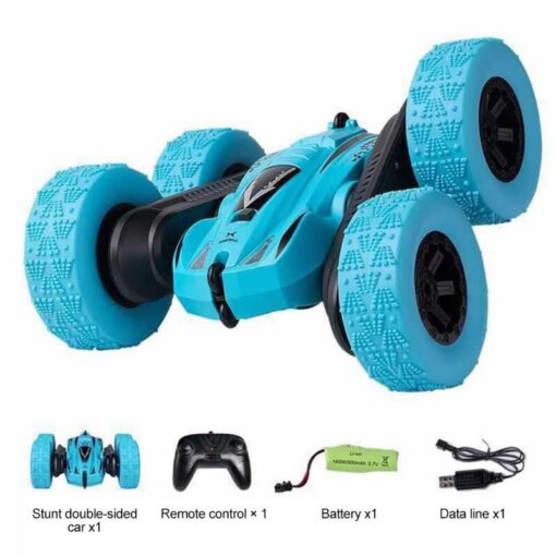 Remote Control Car 2 4G 360 rotating Tumbling Bucket Twisting Double sided Stunt Car Remote Control 1