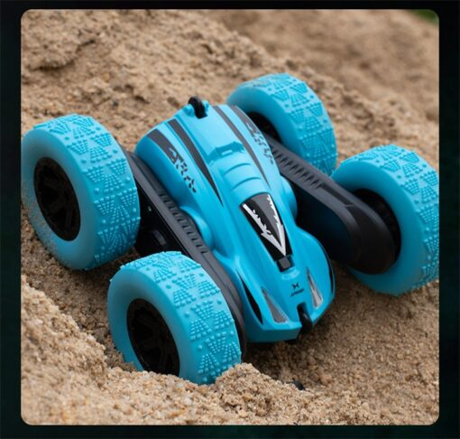 Remote Control Car 2 4G 360 rotating Tumbling Bucket Twisting Double sided Stunt Car Remote Control 3