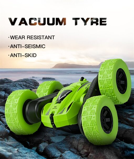 Remote Control Car 2 4G 360 rotating Tumbling Bucket Twisting Double sided Stunt Car Remote Control 4
