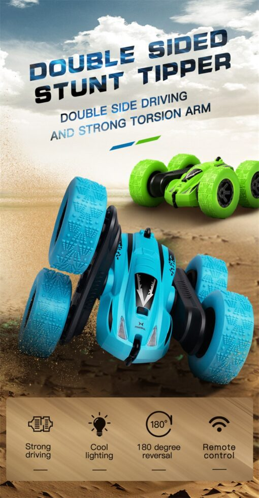 Remote Control Car 2 4G 360 rotating Tumbling Bucket Twisting Double sided Stunt Car Remote Control 5