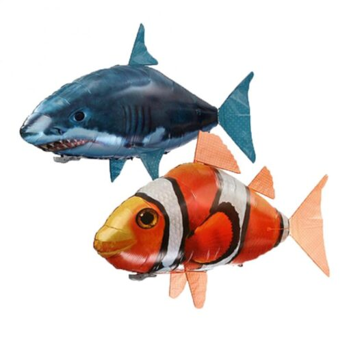 Remote Control Flying Shark Fish Toys RC Radio Air Balloons Swimming Inflatable Blimp Xmas Kids Gifts 2