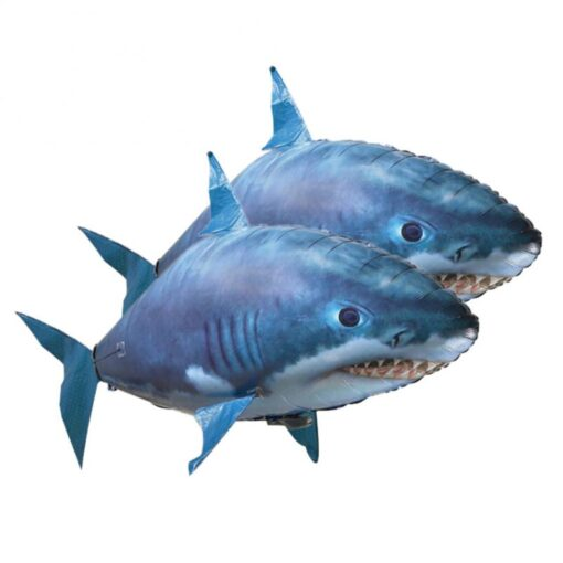 Remote Control Flying Shark Fish Toys RC Radio Air Balloons Swimming Inflatable Blimp Xmas Kids Gifts 3