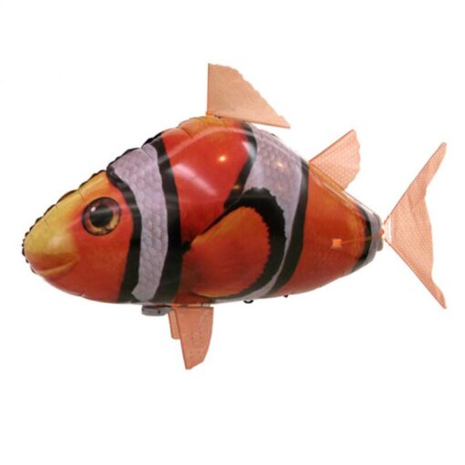 Remote Control Flying Shark Fish Toys RC Radio Air Balloons Swimming Inflatable Blimp Xmas Kids Gifts 4