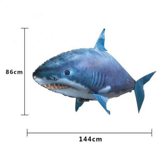 Remote Control Flying Shark Fish Toys RC Radio Air Balloons Swimming Inflatable Blimp Xmas Kids Gifts 5