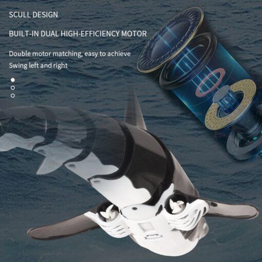 Remote Control Shark Boat Toy 2 4G 4 way Waterproof Shark Toys RC Air Swimming Fish 1