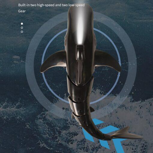 Remote Control Shark Boat Toy 2 4G 4 way Waterproof Shark Toys RC Air Swimming Fish 3