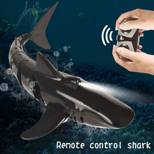 Remote Control Shark Boat Toy 2 4G 4 way Waterproof Shark Toys RC Air Swimming Fish