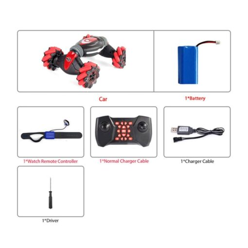 Remote Control Stunt Car Gesture Induction Twisting Car Off Road Vehicle Light Music Drift Dancing Side 3