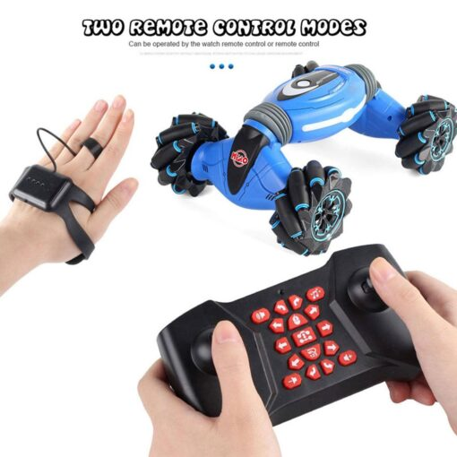 Remote Control Stunt Car Gesture Induction Twisting Car Off Road Vehicle Light Music Drift Dancing Side