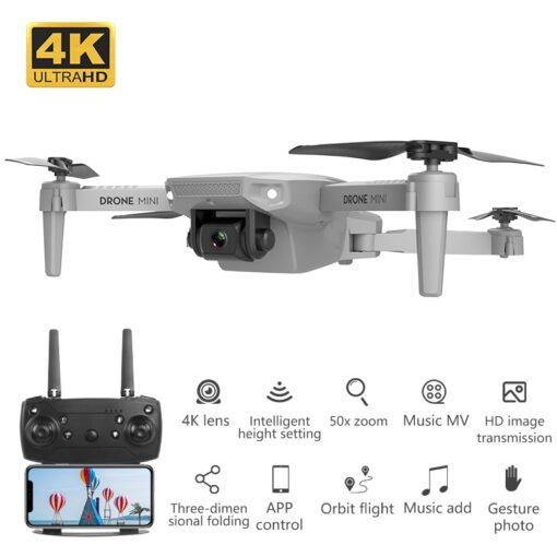 Remote Control Toys Drone E88 WIFI 30W 1080P 4K HD Wide Angle Camera Foldable Selfie RC 4