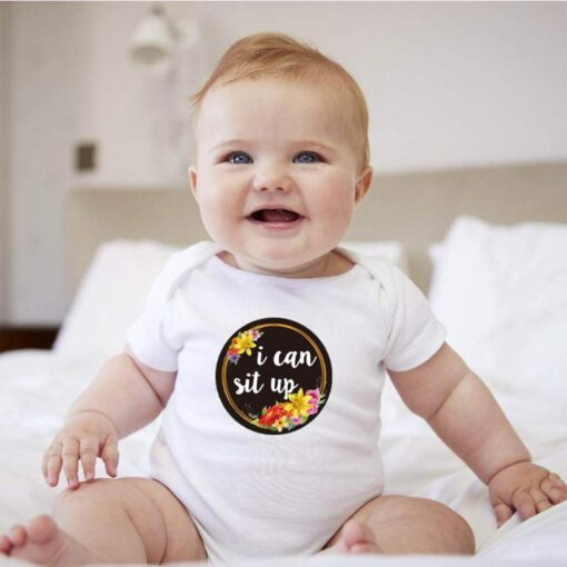 Repeatedly Baby Milestone Photography Card High grade Paper Multi function Portable Newborn Monthly Commemorative Sticker 2