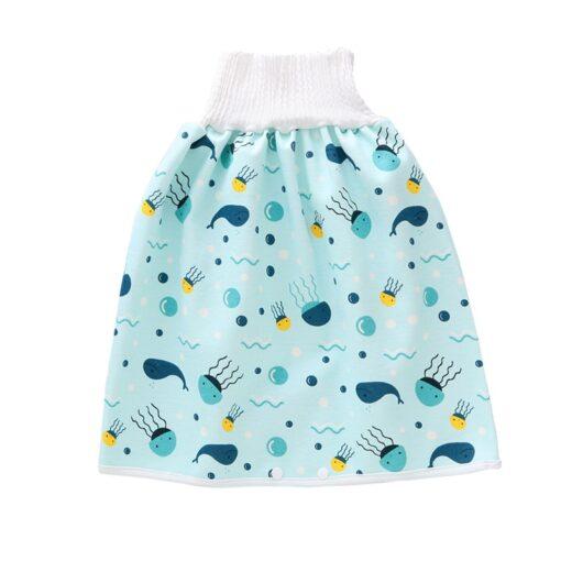 Reusable Children Diaper Skirt Training Skirt Pure Cotton High Waist Waterproof Diaper Skirt Baby Cloth Diaper 5