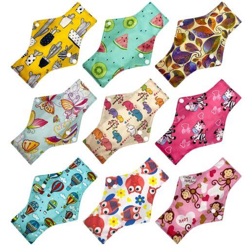 Reusable Cloth Menstrual Pads Bamboo charcoal Absorbency sanitary napkin washable environmental protection maternity Eco Life 1
