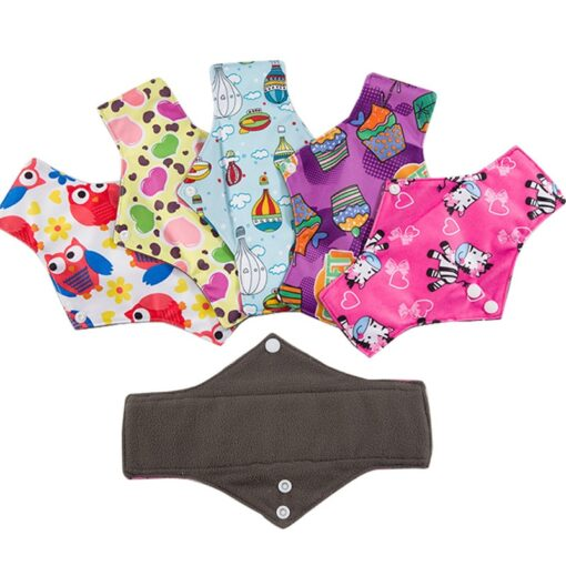 Reusable Cloth Menstrual Pads Bamboo charcoal Absorbency sanitary napkin washable environmental protection maternity Eco Life