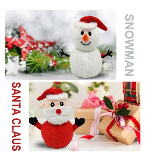 Reversible Flip Santa Stuffed Plush Doll Soft Simulation Plush Toy Christmas Plush Doll Kids Filled Plush 1