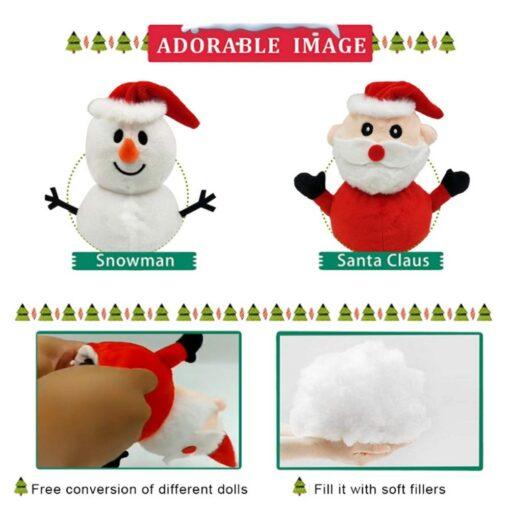 Reversible Flip Santa Stuffed Plush Doll Soft Simulation Plush Toy Christmas Plush Doll Kids Filled Plush 4