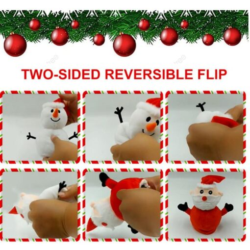 Reversible Flip Santa Stuffed Plush Doll Soft Simulation Plush Toy Christmas Plush Doll Kids Filled Plush 5