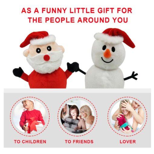 Reversible Flip Santa Stuffed Plush Doll Soft Simulation Plush Toy Christmas Plush Doll Kids Filled Plush 8