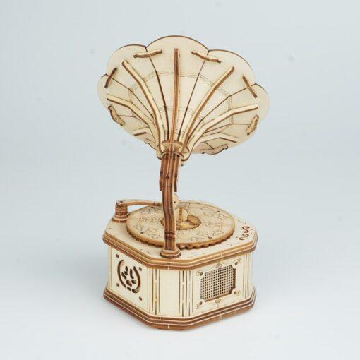 Robotime Gramophone 3D Wooden Model Building Kits Toys For Children Kids Girls Birthday Gift 3