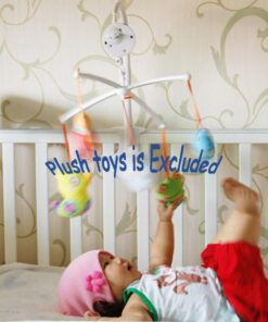 Rotary Baby Mobile Crib Bed Toy Clockwork Movement Music Box Bedding Toy 2