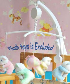 Rotary Baby Mobile Crib Bed Toy Clockwork Movement Music Box Bedding Toy 3