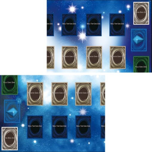 Rubber Play Mat 60x60cm Galaxy Style Competition Pad Playmat For Yu gi oh Card Folded Rolled 2
