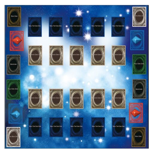 Rubber Play Mat 60x60cm Galaxy Style Competition Pad Playmat For Yu gi oh Card Folded Rolled