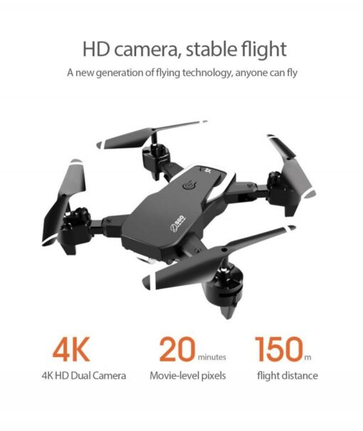 S60 RC Drone Helicopter WiFi FPV With Camera 4K HD Aerial Photography RC Quadcopter Folding Drone 3