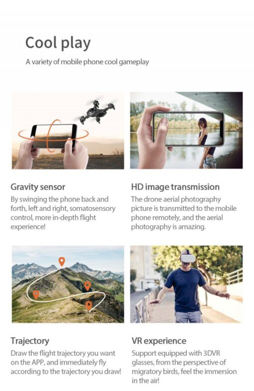 S60 RC Drone Helicopter WiFi FPV With Camera 4K HD Aerial Photography RC Quadcopter Folding Drone 5