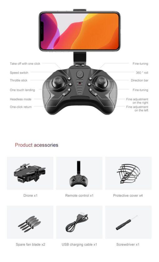 S66 Mini Drone Wifi Camera Live Video Dron 4K Quadcopter With FPV 4K FPV RC Quadrocopter 5