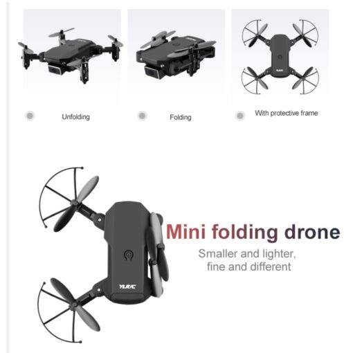 S66 Mini RC Drone 4K HD Camera Professional Aerial Photography Helicopter WiFi Fpv Gravity Induction Folding 4