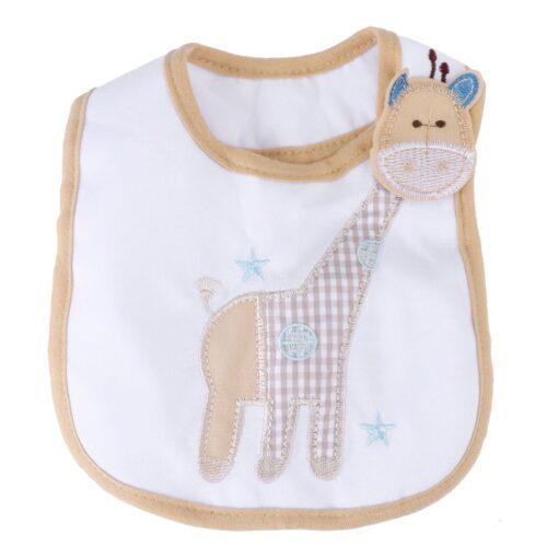 SAGACE Bibs Burp Cloths baby accessories Children s 3 Layer waterproof apron Cute towel Giraffe 19Apl9
