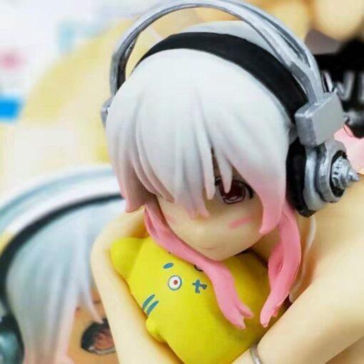 SAO Anime Sword Art Online Sonicomi Sitting Ver Swimsuit PVC Action Figure Desktop Decoration Model Noodle