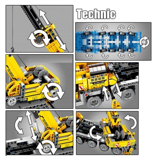 SEMBO Fit Technic Mobile Crane Creator Expert Ideas Bricks Set 665pcs City Engineer Crab Building Blocks 2